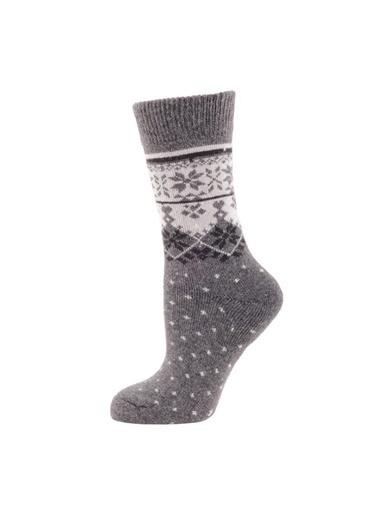 Panthzer  Casual Wool Socks Çorap Antrasit Gri